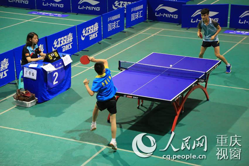 高清:2015中国乒乓球协会会员联赛在重庆万盛