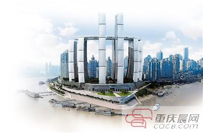 重庆来福士广场效果图.-朝天扬帆 项目启动建设 300米廊桥要升到250图片