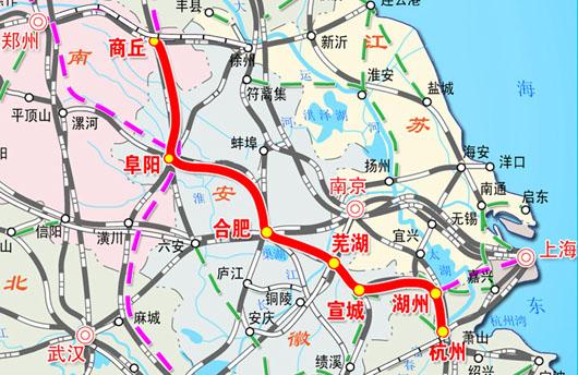 商丘高铁路线图