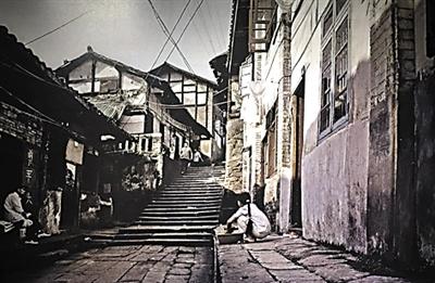 对比新老照片 寻找重庆未曾消失的老街与风景图片