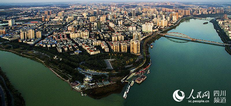 绵阳市的三江半岛.(图片由绵阳市住建局提供)