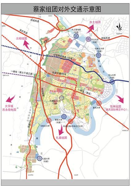北碚城区街道地图