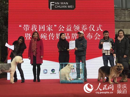"""重庆推""""带我回家""""公益活动 让领养宠物代替购买"""