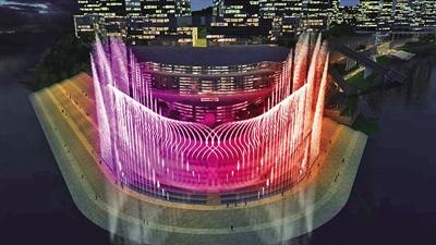 朝天门打造 重庆之眼 音乐喷泉图片