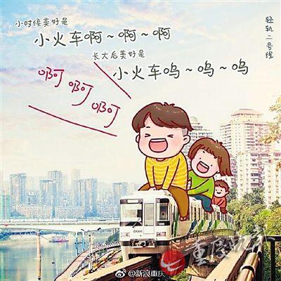 一组手绘图片在网上火了,重庆人熟悉的城市地标变成孩子们的玩具,每张