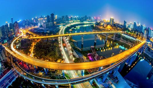 《桥都重庆夜色迷人》张清善摄-砥砺奋进的五年 重庆篇 重庆频道图片