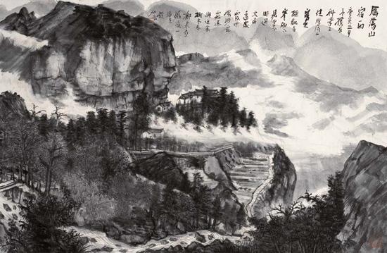 何加林中国山水画写生作品欣赏--重庆频道--人民网