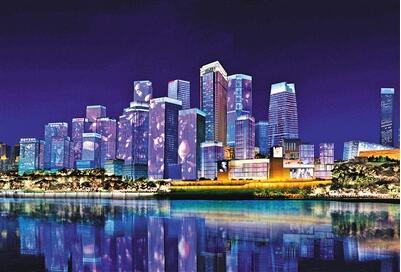 江北嘴 灯光秀联动楼宇将增加     今年,江北区将实施江北区北
