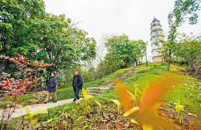 重庆江北嘴塔子山公园开放