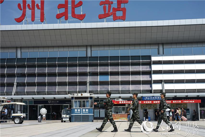 中秋佳节 重庆武警官兵坚守一线保平安