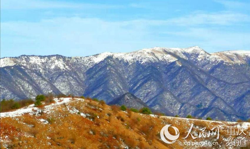 重庆城口:初雪恰似一幅山水画
