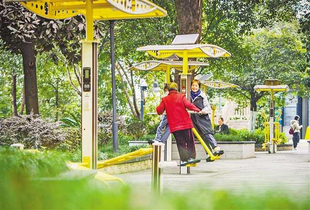 主城区首个智慧健身长廊投用