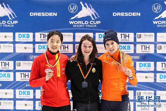 短道速滑世界杯:曲春雨获女子500米亚军