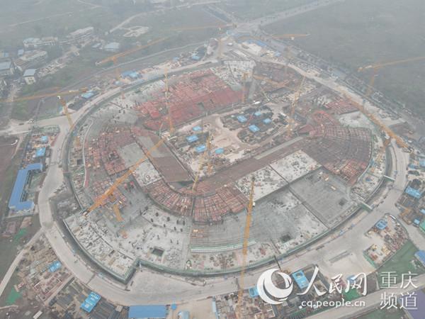 重庆龙兴足球场项目地下室结构全