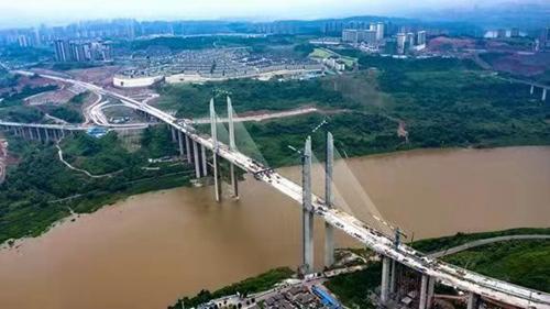 蔡家嘉陵江大桥顺利合拢串起区域协同发展网络